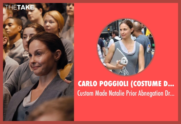 Carlo Poggioli (Costume Designer) gray dress from Divergent seen with Ashley Judd (Natalie Prior)