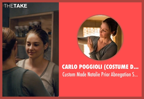 Carlo Poggioli (Costume Designer) gray sweater from Divergent seen with Ashley Judd (Natalie Prior)