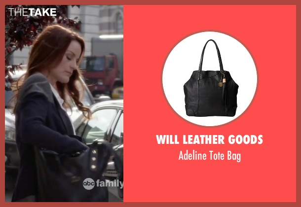 Will Leather Goods black bag from Pretty Little Liars seen with Ashley Marin  (Laura Leighton)
