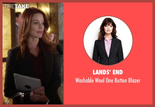 Lands' End black blazer from Pretty Little Liars seen with Ashley Marin  (Laura Leighton)