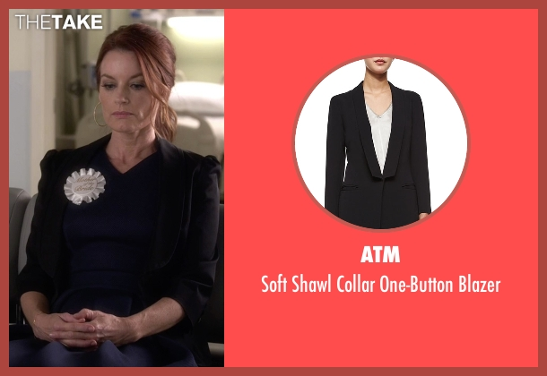 ATM black blazer from Pretty Little Liars seen with Ashley Marin  (Laura Leighton)
