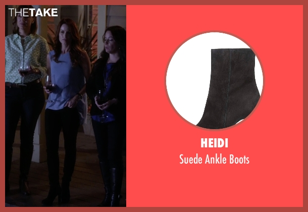 Heidi black boots from Pretty Little Liars seen with Ashley Marin  (Laura Leighton)