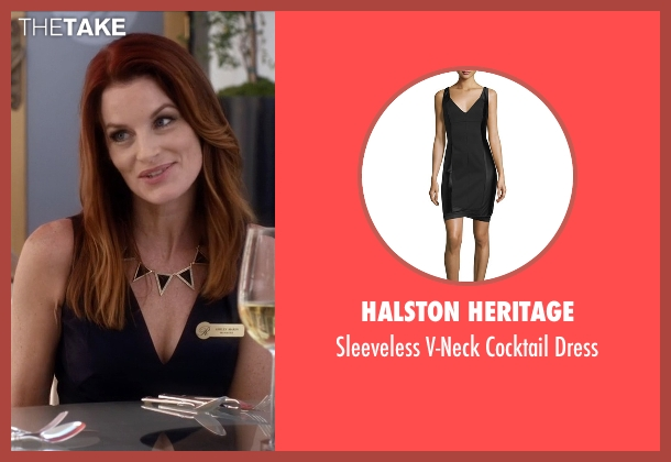 Halston Heritage black dress from Pretty Little Liars seen with Ashley Marin  (Laura Leighton)