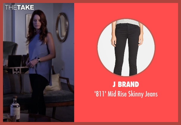 J Brand black jeans from Pretty Little Liars seen with Ashley Marin  (Laura Leighton)