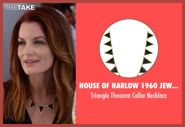 House Of Harlow 1960 Jewelry black necklace from Pretty Little Liars seen with Ashley Marin  (Laura Leighton)