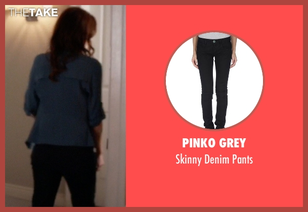 Pinko Grey black pants from Pretty Little Liars seen with Ashley Marin  (Laura Leighton)