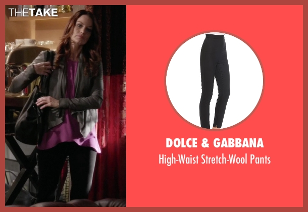 Dolce & Gabbana black pants from Pretty Little Liars seen with Ashley Marin  (Laura Leighton)