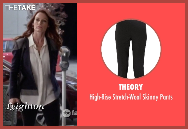 Theory black pants from Pretty Little Liars seen with Ashley Marin  (Laura Leighton)