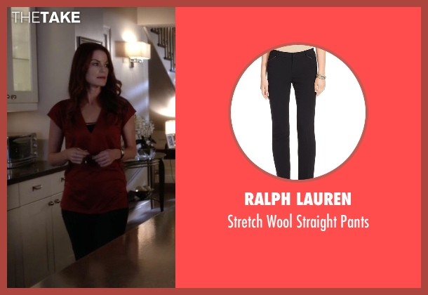 Ralph Lauren black pants from Pretty Little Liars seen with Ashley Marin  (Laura Leighton)
