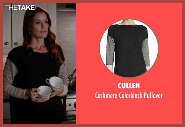 Cullen black pullover from Pretty Little Liars seen with Ashley Marin  (Laura Leighton)