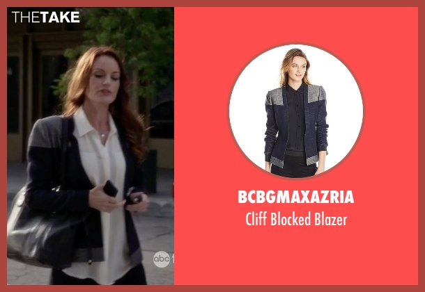 BCBGMAXAZRIA blue blazer from Pretty Little Liars seen with Ashley Marin  (Laura Leighton)
