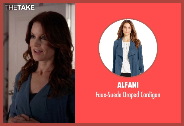 Alfani blue cardigan from Pretty Little Liars seen with Ashley Marin  (Laura Leighton)