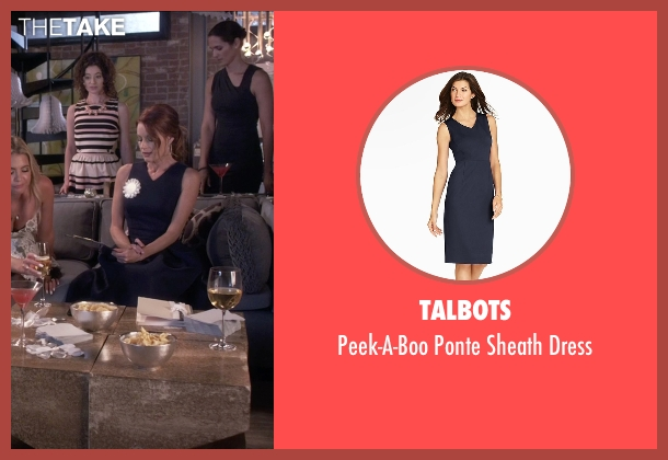 Talbots blue dress from Pretty Little Liars seen with Ashley Marin  (Laura Leighton)