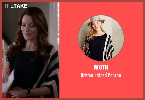 Moth blue poncho from Pretty Little Liars seen with Ashley Marin  (Laura Leighton)