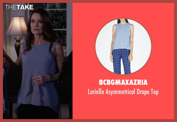 BCBGMAXAZRIA blue top from Pretty Little Liars seen with Ashley Marin  (Laura Leighton)