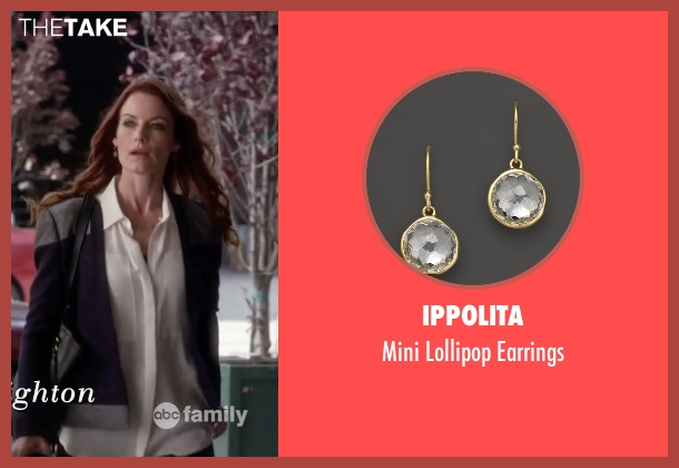 Ippolita gold earrings from Pretty Little Liars seen with Ashley Marin  (Laura Leighton)