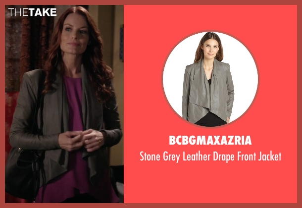 BCBGMAXAZRIA gray jacket from Pretty Little Liars seen with Ashley Marin  (Laura Leighton)