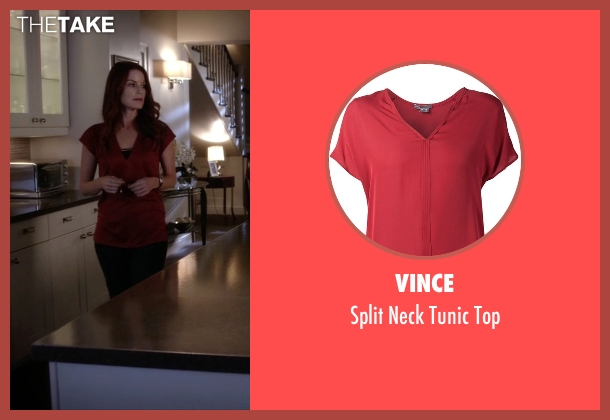 Vince red top from Pretty Little Liars seen with Ashley Marin  (Laura Leighton)