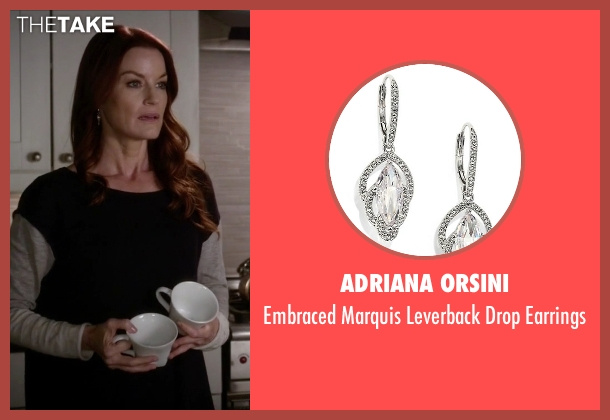 Adriana Orsini silver earrings from Pretty Little Liars seen with Ashley Marin  (Laura Leighton)