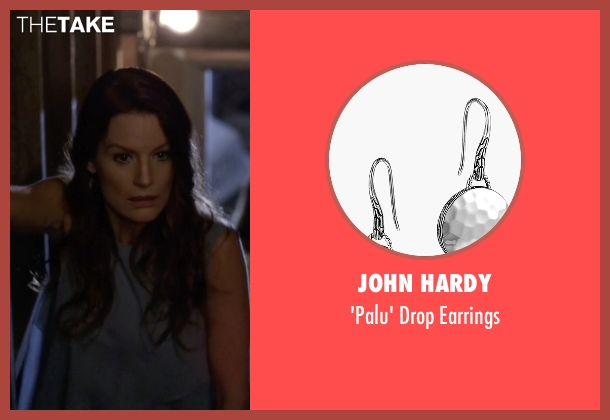 John Hardy silver earrings from Pretty Little Liars seen with Ashley Marin  (Laura Leighton)