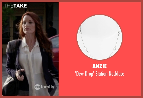 Anzie silver necklace from Pretty Little Liars seen with Ashley Marin  (Laura Leighton)