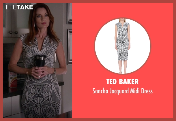 Ted Baker white dress from Pretty Little Liars seen with Ashley Marin  (Laura Leighton)
