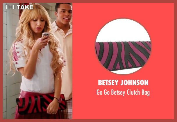 Betsey Johnson pink bag from High School Musical 3: Senior Year seen with Ashley Tisdale (Sharpay Evans)