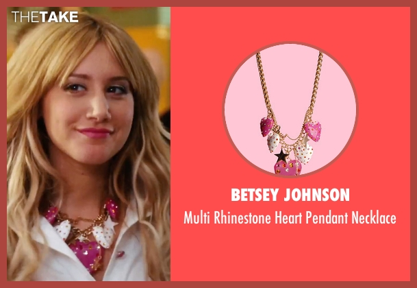 Betsey Johnson pink necklace from High School Musical 3: Senior Year seen with Ashley Tisdale (Sharpay Evans)