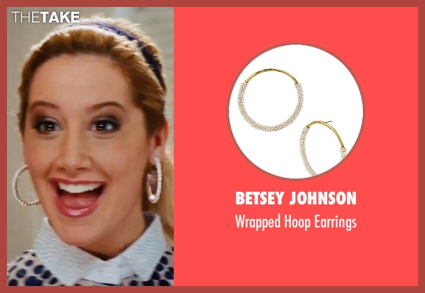 Betsey Johnson white earrings from High School Musical 3: Senior Year seen with Ashley Tisdale (Sharpay Evans)
