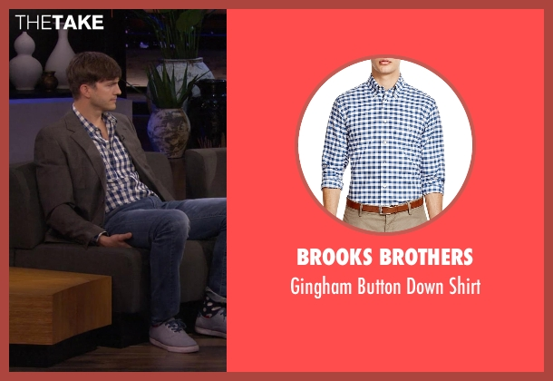 Brooks Brothers blue shirt from Chelsea seen with Ashton Kutcher