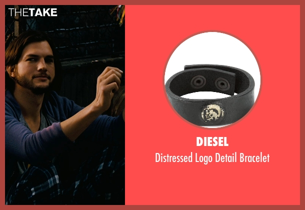 Diesel black bracelet from New Year's Eve seen with Ashton Kutcher (Randy)