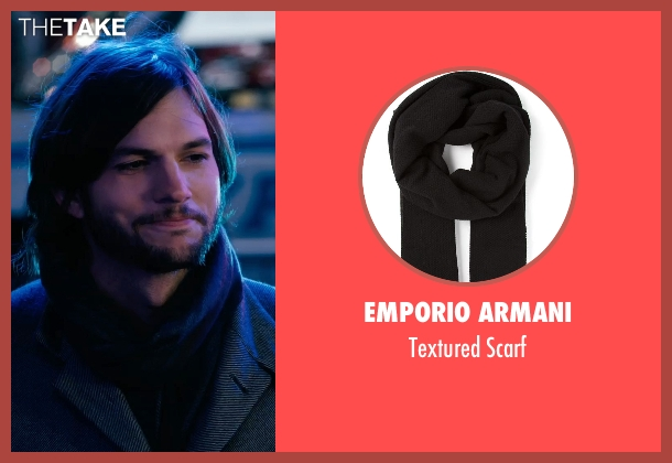 Emporio Armani black scarf from New Year's Eve seen with Ashton Kutcher (Randy)