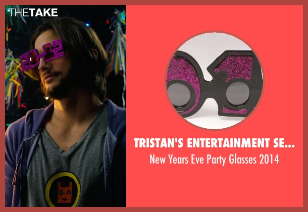 Tristan's Entertainment Services purple 2014 from New Year's Eve seen with Ashton Kutcher (Randy)