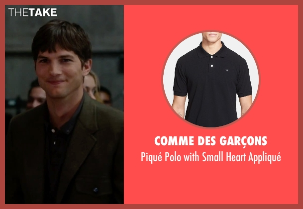 Comme des Garçons black appliqué from No Strings Attached seen with Ashton Kutcher (Adam Franklin)