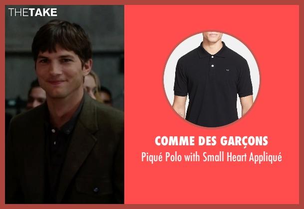 Comme des Garçons black appliqué from No Strings Attached seen with Ashton Kutcher (Adam Franklin)