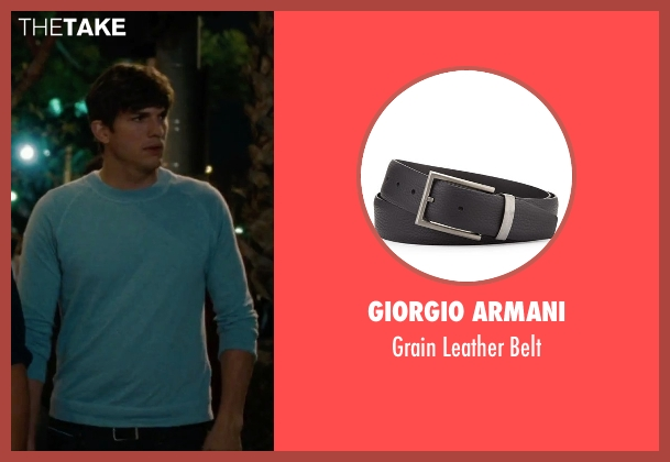 Giorgio Armani black belt from No Strings Attached seen with Ashton Kutcher (Adam Franklin)