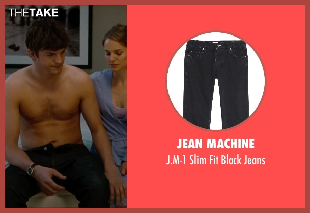 Jean Machine black jeans from No Strings Attached seen with Ashton Kutcher (Adam Franklin)