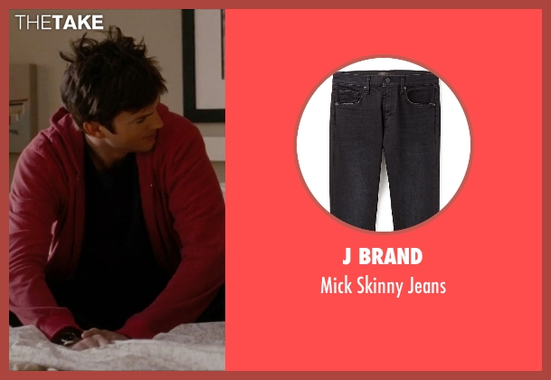 J Brand black jeans from No Strings Attached seen with Ashton Kutcher (Adam Franklin)