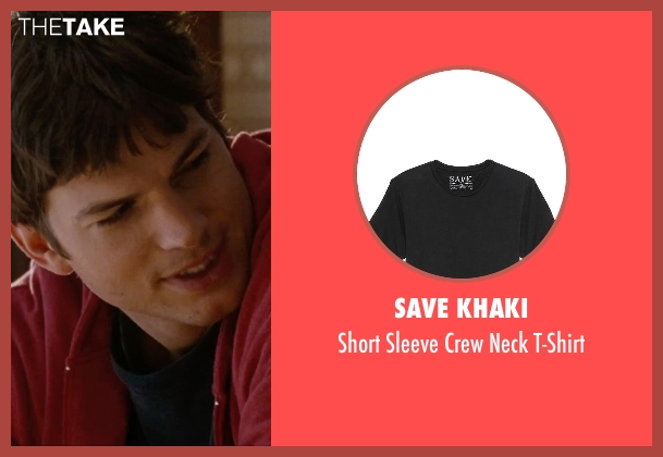 Save Khaki black t-shirt from No Strings Attached seen with Ashton Kutcher (Adam Franklin)