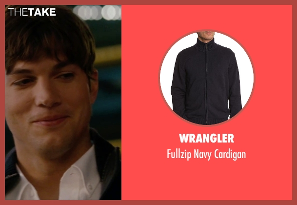 Wrangler blue cardigan from No Strings Attached seen with Ashton Kutcher (Adam Franklin)
