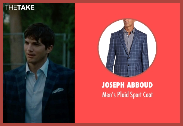 Joseph Abboud blue coat from No Strings Attached seen with Ashton Kutcher (Adam Franklin)
