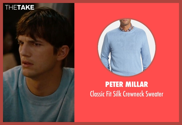 Peter Millar blue sweater from No Strings Attached seen with Ashton Kutcher (Adam Franklin)