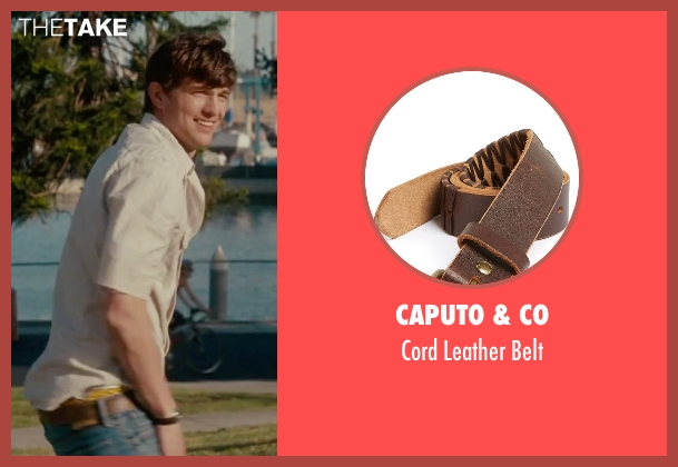 Caputo & Co brown belt from No Strings Attached seen with Ashton Kutcher (Adam Franklin)