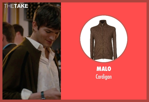 Malo brown cardigan from No Strings Attached seen with Ashton Kutcher (Adam Franklin)