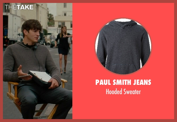 Paul Smith Jeans gray sweater from No Strings Attached seen with Ashton Kutcher (Adam Franklin)