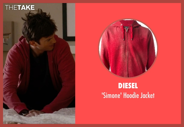 Diesel red jacket from No Strings Attached seen with Ashton Kutcher (Adam Franklin)