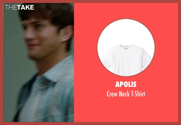 Apolis white t-shirt from No Strings Attached seen with Ashton Kutcher (Adam Franklin)