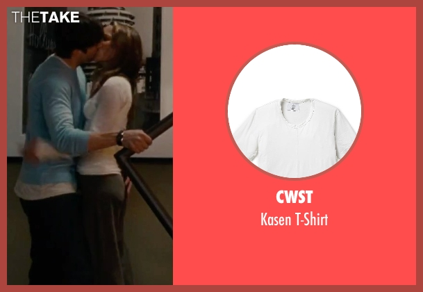 CWST white t-shirt from No Strings Attached seen with Ashton Kutcher (Adam Franklin)