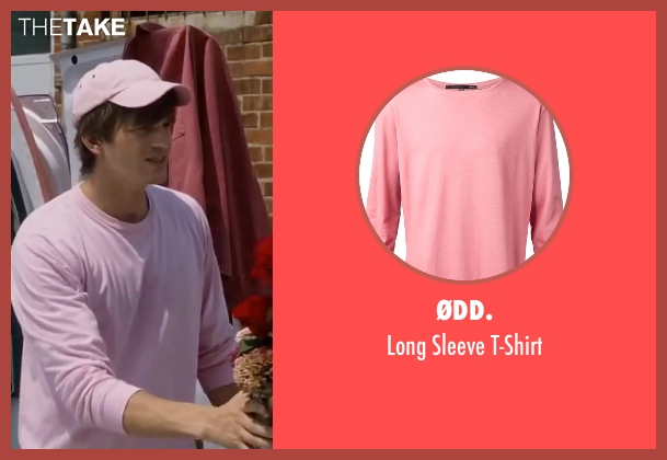 ØDD. pink t-shirt from Valentine's Day seen with Ashton Kutcher (Reed Bennett)