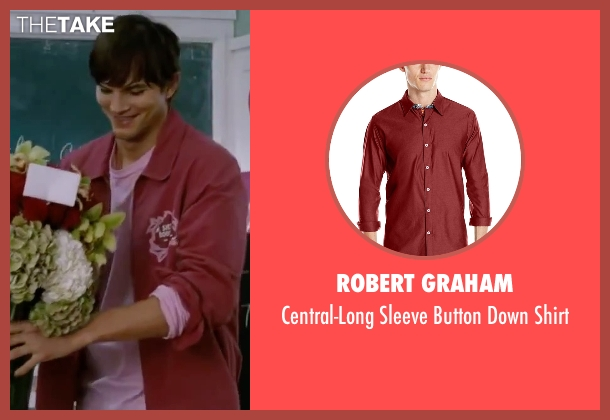 Robert Graham red shirt from Valentine's Day seen with Ashton Kutcher (Reed Bennett)